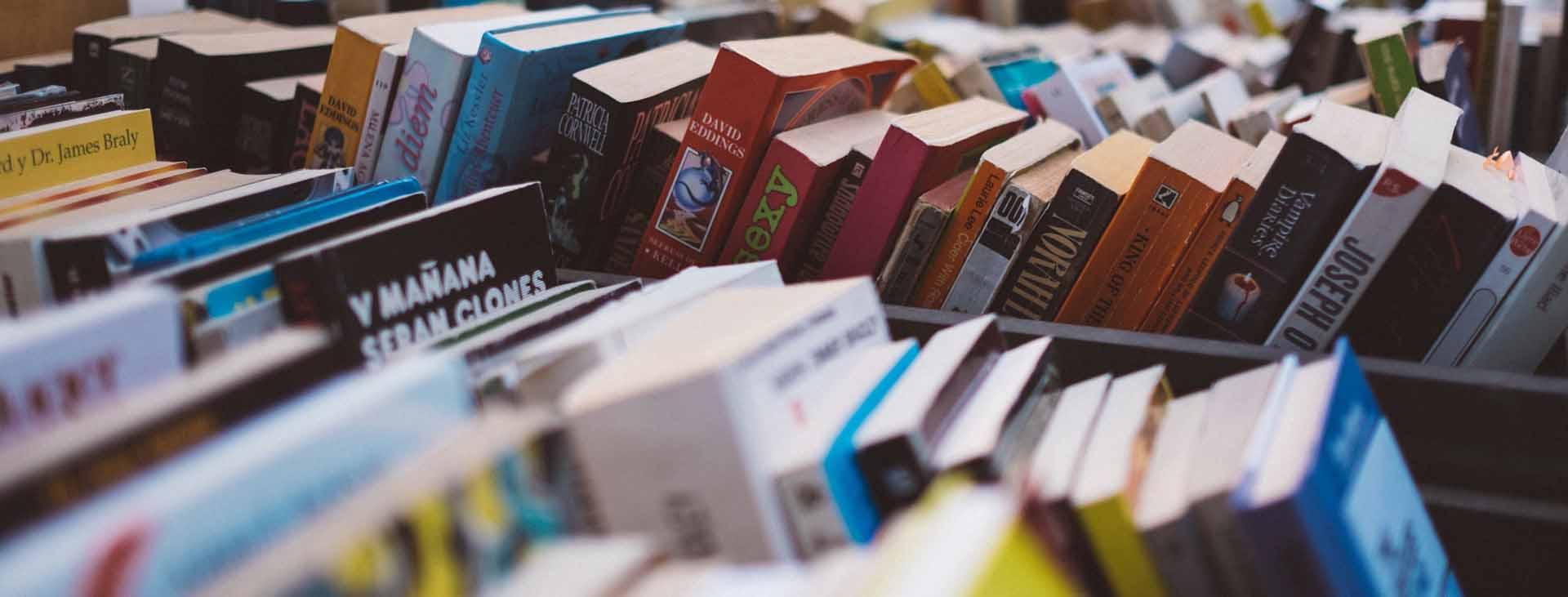 boeken op een rij