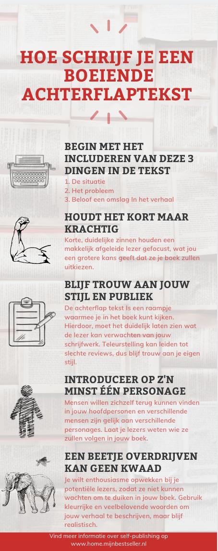 infograpic, hoe schrijf je een achterflapteskt